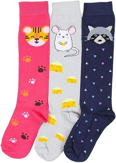 TupTam Girls Knee-High Socks with Printed Designs 3 Pairs