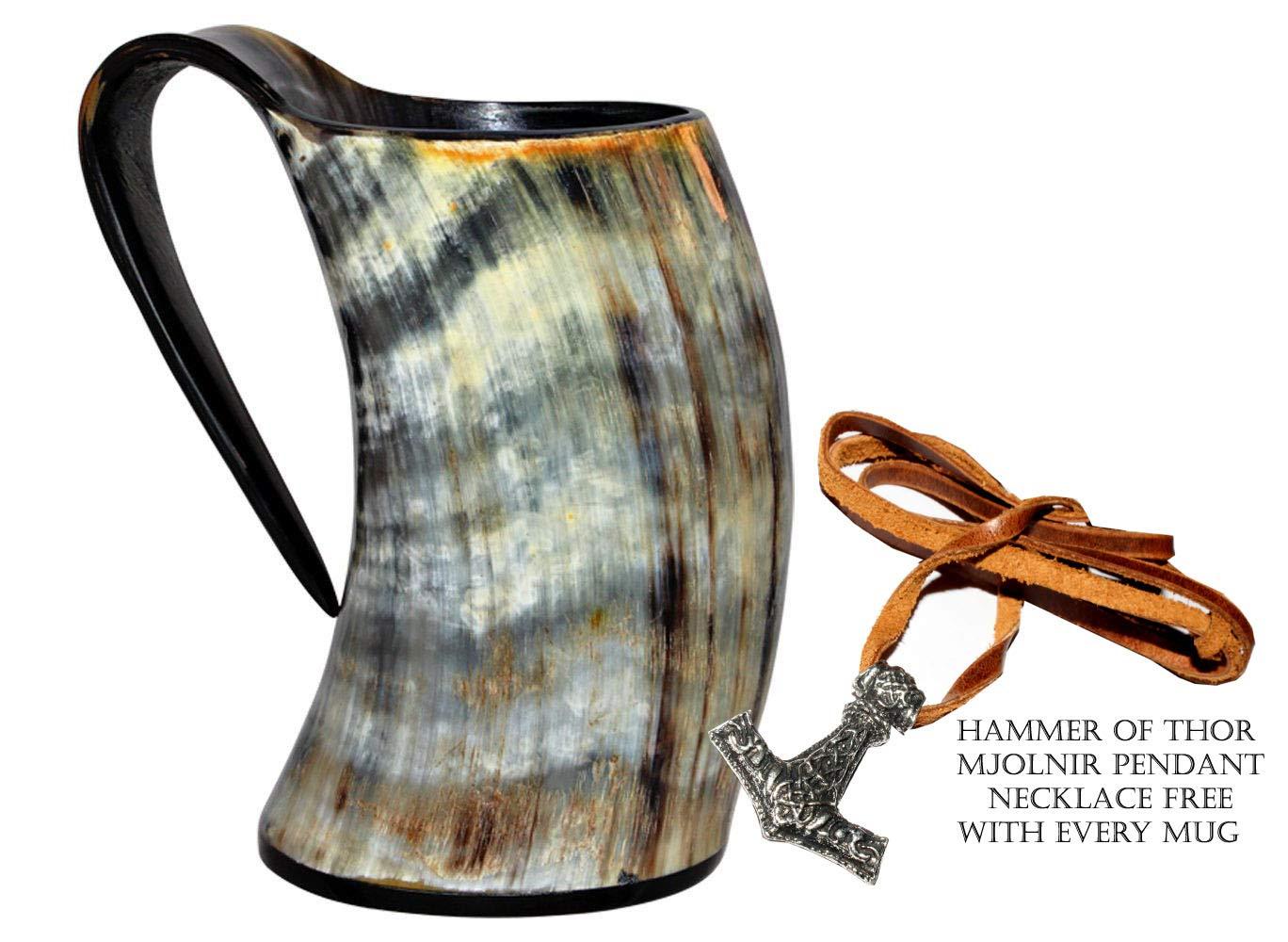 16oznt Vikings Valhallas Viking Cup Drinking Horn Tankard Authentic Medieval Inspired drinking Mug