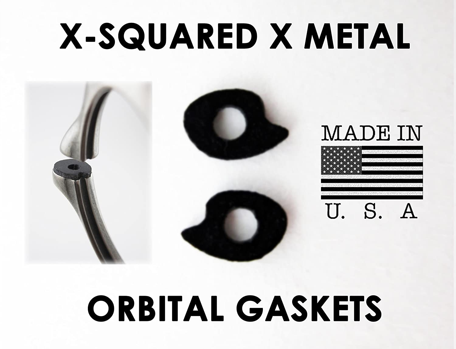 06ec7edbf50 Parts X-Squared X Metal Orbital Gaskets Replacement Rubber Lens Shocks for  Oakley X Metal Sunglasses   Everything Else