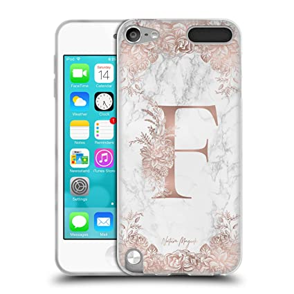 Amazon com: Official Nature Magick F Rose Gold Marble Monogram Soft