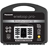 "Panasonic K-KJ17KHC82A eneloop pro High Capacity Power Pack, 8AA, 2AAA, with ""Advanced"" Individual Battery Charger and Plastic Storage Case"