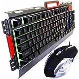 Kit Gamer Com Iluminação De Led E Acabamento De Metal Usb2.0 - Prateado ou Preto