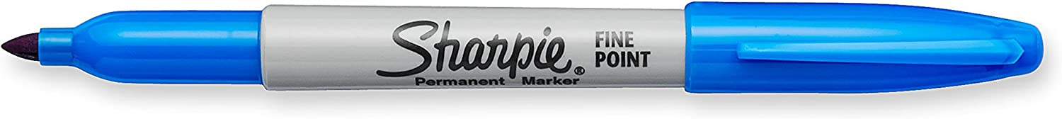 Sharpie Permanent Markers, Fine Point, Techno Blue, 1 Count