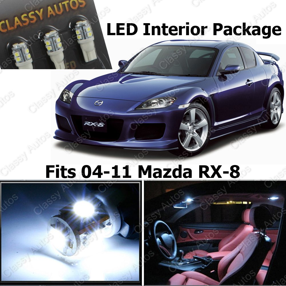 mazda rx8 interior. amazoncom classy autos white led lights interior package deal mazda rx8 6 pieces automotive rx8