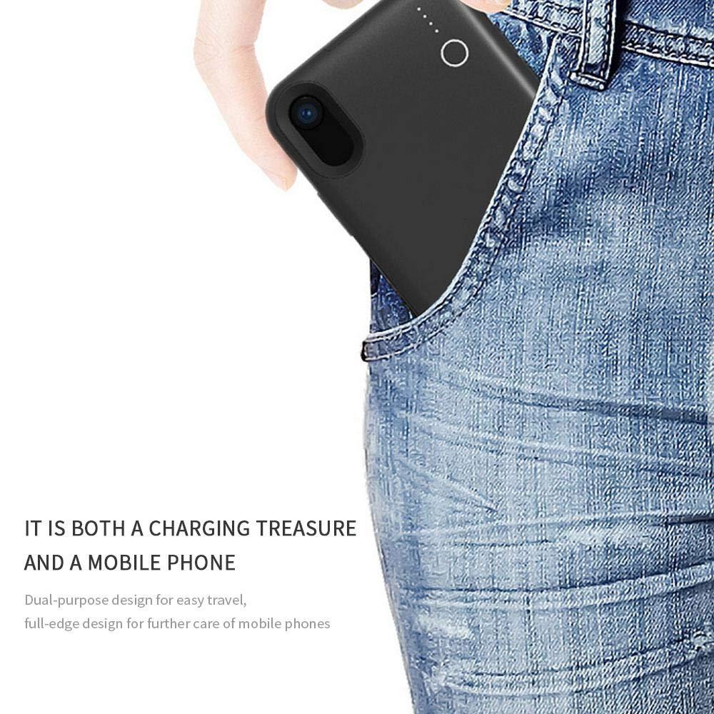 6000 mAh Portable Rechargeable avec Chargement sans Fil, Ultra Mince Leegoal Coque de Batterie pour iPhone XS Max de Protection pour XS Max