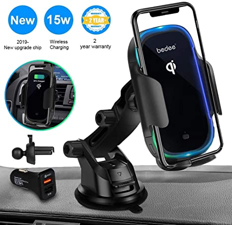 Amazon.com: Wireless Car Charger Mount, Automatic Clamping ...