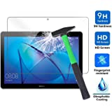 Huawei MediaPad T3 10 Screen Protector, Infiland Premium HD clear Tempered Glass Screen Protector for Huawei MediaPad T3 10 Tablet (Tempered Glass)