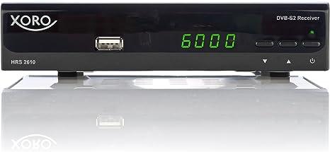 Xoro HRS 2610 - Receptor Digital por satélite (HDMI, SCART, USB 2.0, LAN, Pantalla LED) Negro: Amazon.es: Electrónica