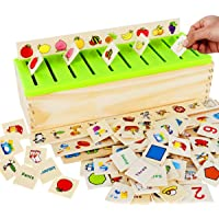 Wooden Montessori Toys for Toddlers Sorting Box Educational Toys Preschool Kindergarten Learning Games Activities…