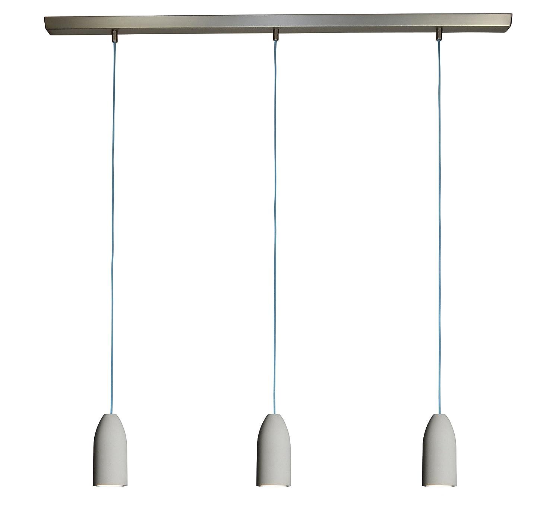 3x Betonlampe (hängend), Textilkabel\