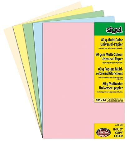 Sigel LP641 - Papel de color para impresoras láser e inyección de ...