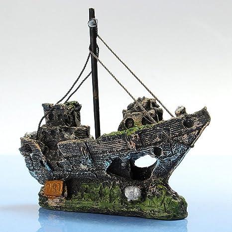 Hinmay - Adorno de resina para acuario o barco de pesca, decoración de plástico,