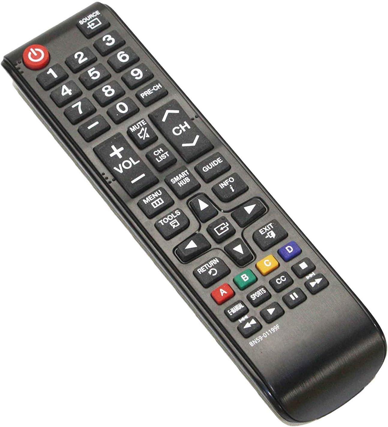 Remote Control BN59-01199F Replace for Samsung  Smart TV UN40J6200AF UN50J620DAF