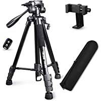 """Torjim 60"""" Camera Tripod with Carry Bag, Lightweight Travel Aluminum Professional Tripod Stand (5kg/11lb Load) with…"""