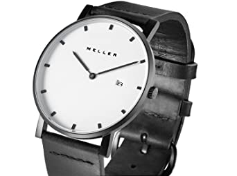 Meller Reloj Analógico para Unisex Adultos de Cuarzo con Correa en Cuero 1BW-1: Amazon.es: Relojes