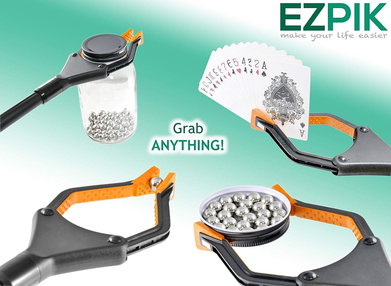 "EZPIK 32"" Long Grabber-Reacher Tool, Foldable Reaching Aid for Elderly, Heavy-Duty Handheld Pickup-Stick & Trash Picker-Upper (Pack of 2): Health & Personal Care"