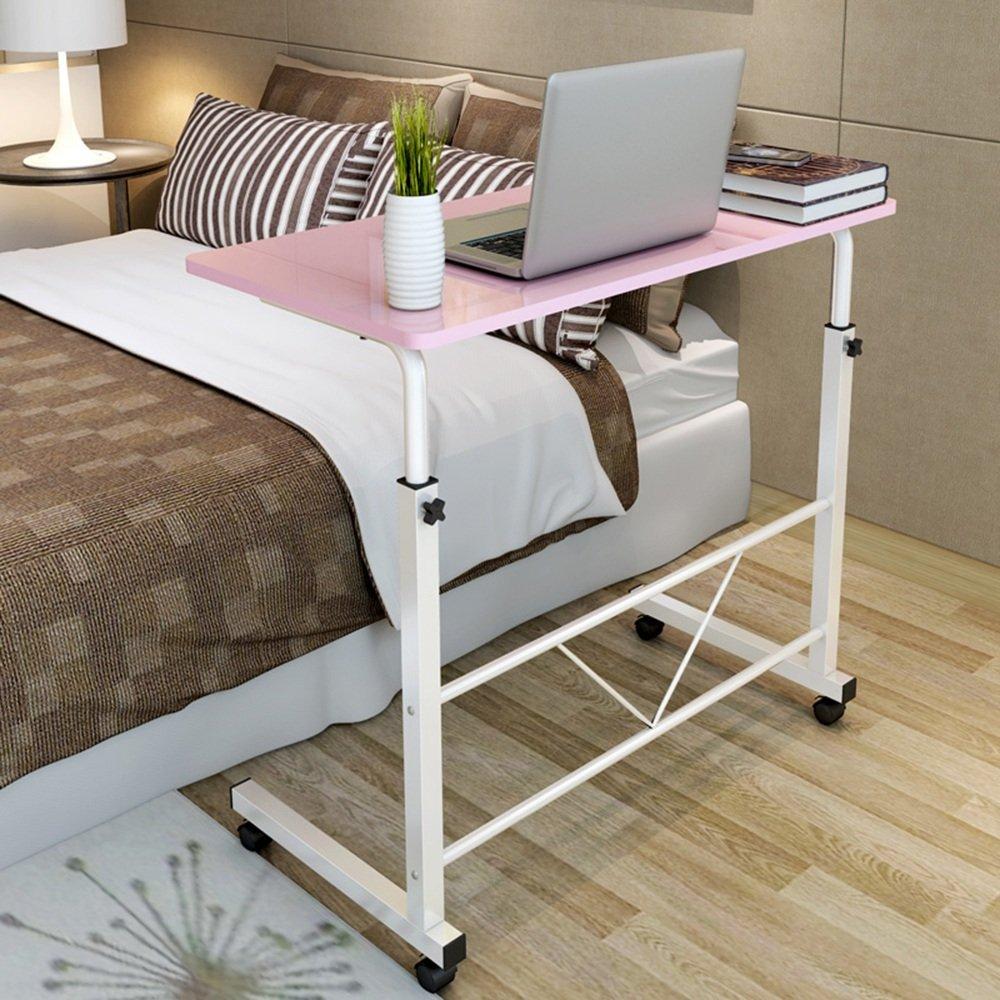 LJHA Fold the table Tavolo per laptop Tavolino da salotto mobile per il desktop di casa 3 colori disponibili 80 * 40cm tavolo ( Colore : A ) XiaoMuZhuoZiChang