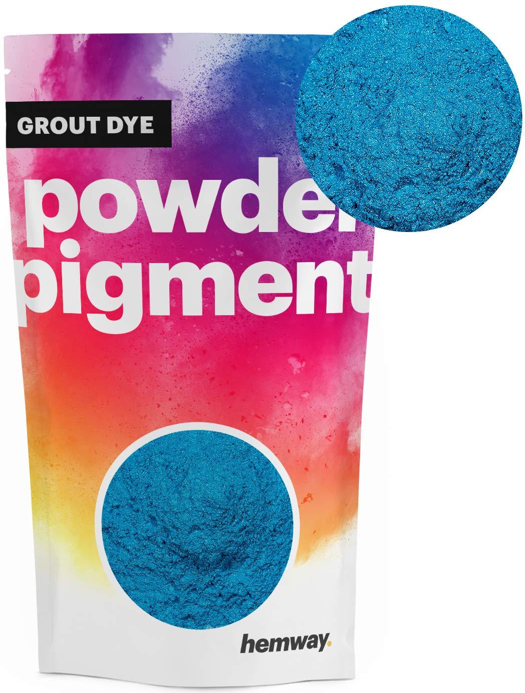 Hemway Grout Dye Pigment Concrete Colour Powder Render Mortar Pointing Powdered Brick Toner (1.8oz / 50g, Metallic Ocean Blue)