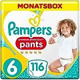 Pampers Premium Protection Pants Größe 6, 116 Windeln, 1 Monatsbox