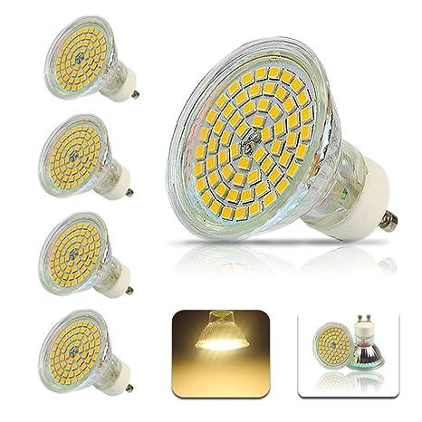 4X Bombillas LED GU10 4W Blanco Cálido 3000K, 450LM, Lámparas Halógenas Equivalentes a 50W