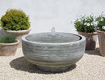 Amazon.com: ft-102-al Girona fuente, Piedra gris: Jardín y ...