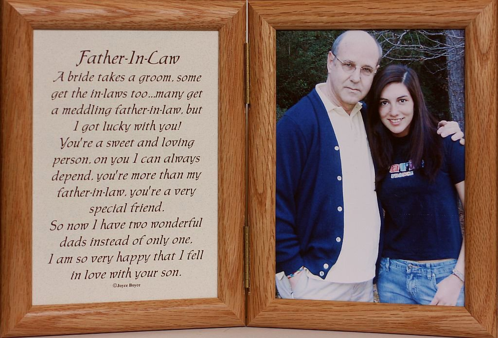Amazon.com - 5x7 Hinged FATHER-IN-LAW Poem ~ LIGHT/MEDIUM Picture ...