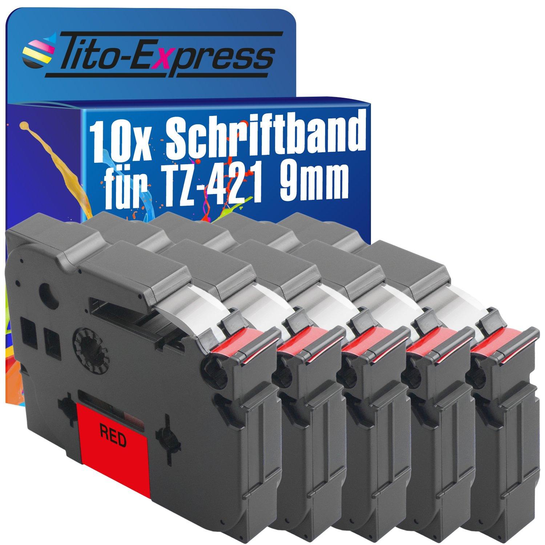 PlatinumSerie® 10 Schriftbänder kompatibel für Brother P-Touch TZ-421 TZe-421 H 105NB H 105WB H 105WN H 300 H 300LI H 300 Series H 500 H 500LI H 500 Series H 75 H 75S