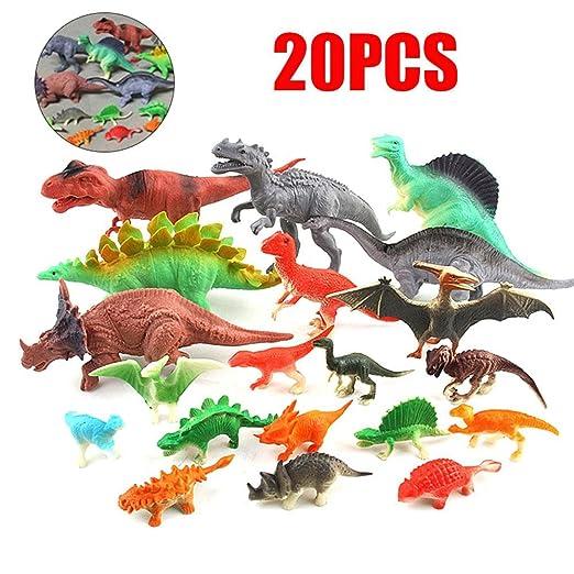 FOONEE - Juego DE 20 Piezas de Juguetes de Dinosaurio ...