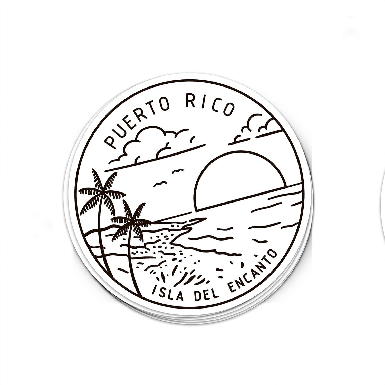 3 Puerto Rico Sticker