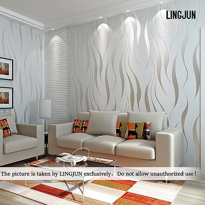 2 opinioni per Stile semplice non tessuto carta da parati damascata,Camera da letto soggiorno