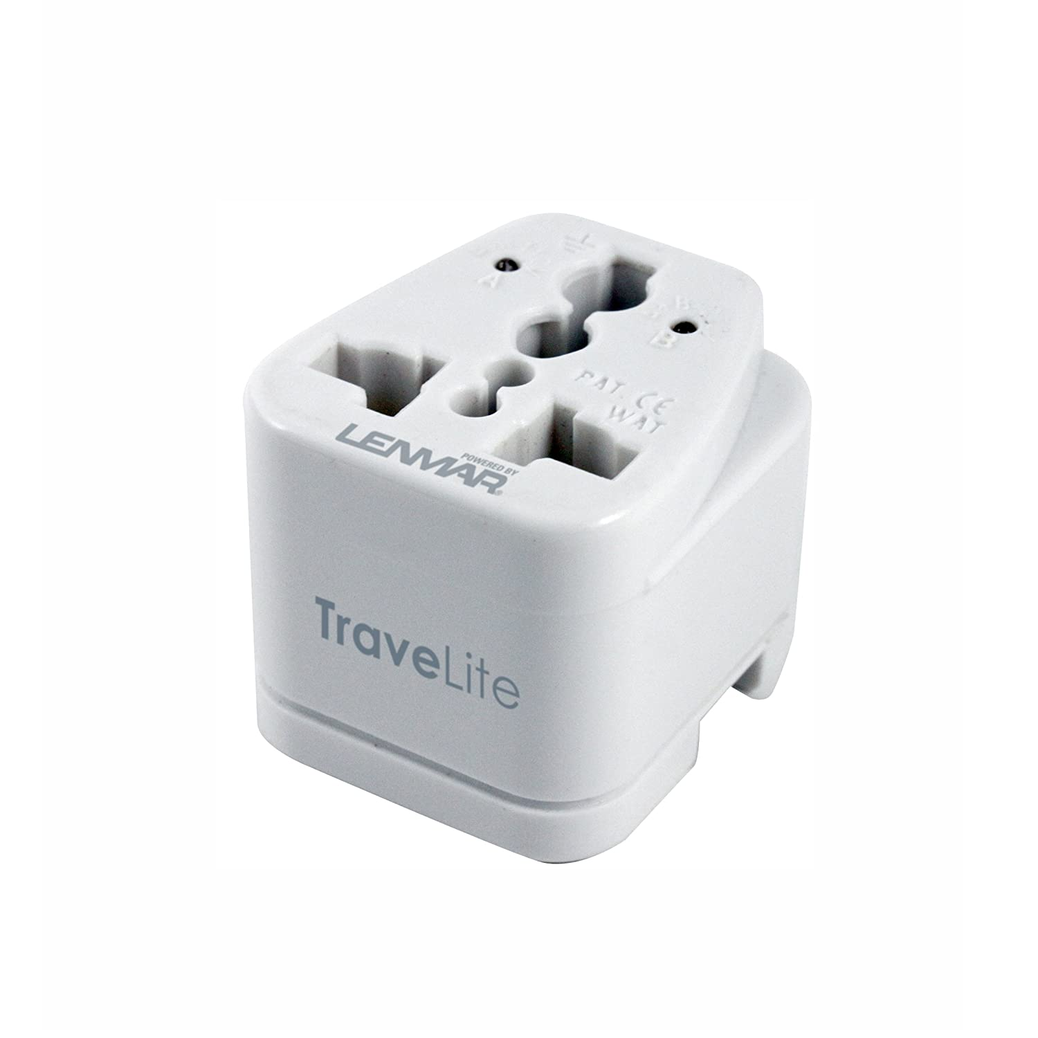 TraveLite Ultra Compact All-in-One International Travel Adapter for Europe; Middle East & Africa; Asia Pacific; South America; & South Pacific By Lenmar