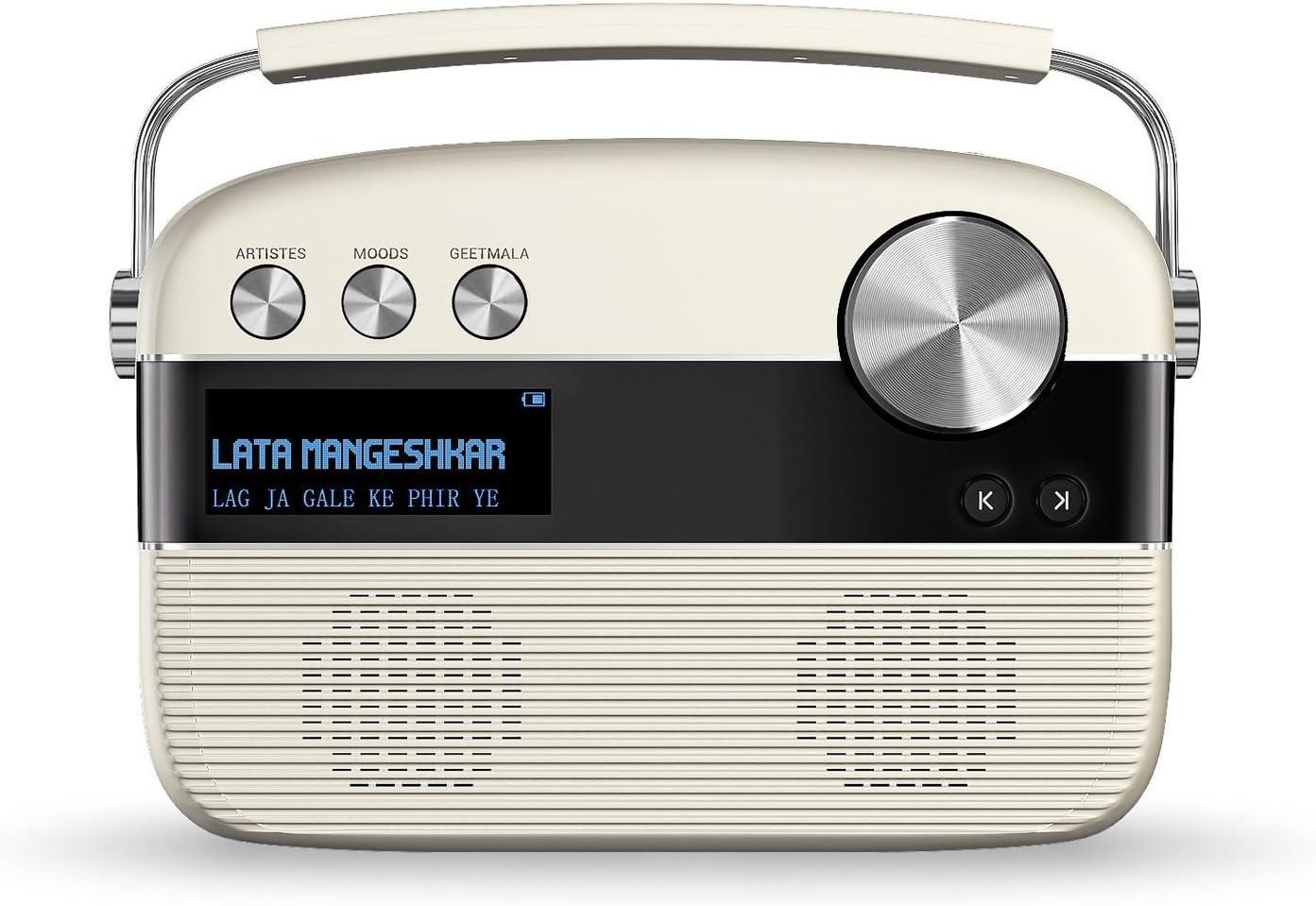 Saregama Carvaan Portable Digital Music Player Porcelain White
