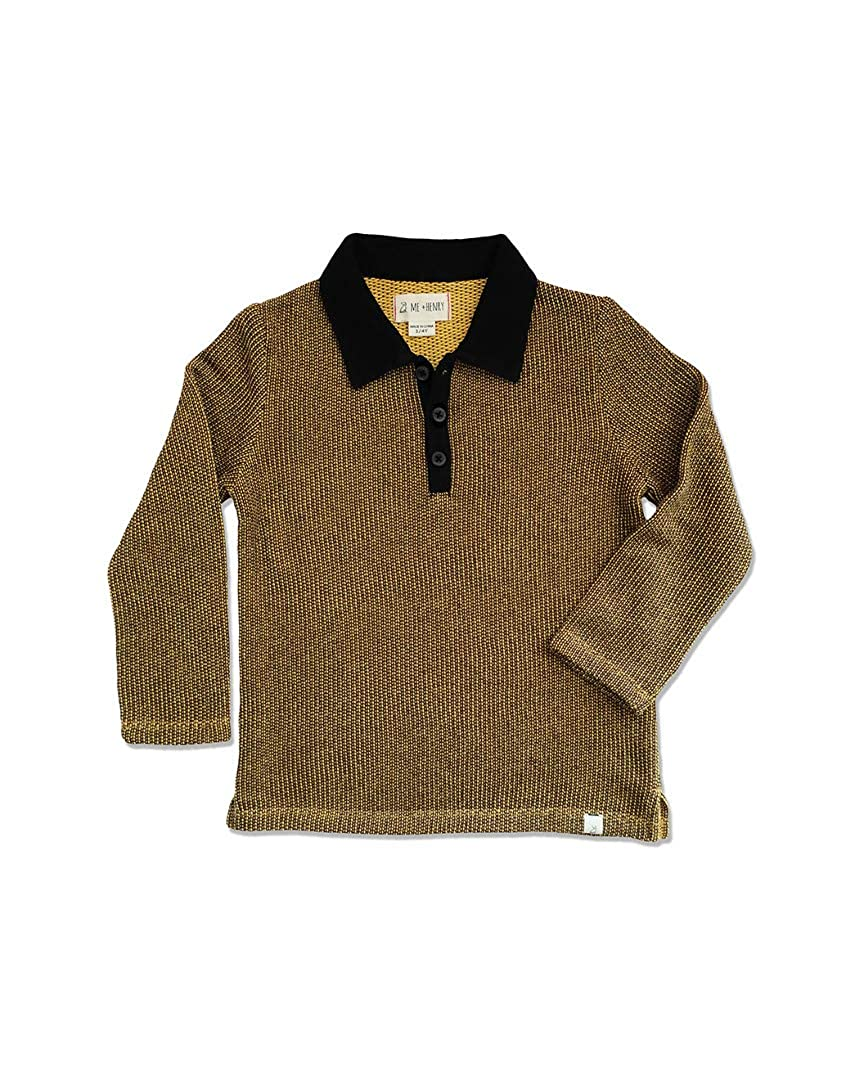 2-3Y Me /& Henry Boys Gold Retro Polo Gold