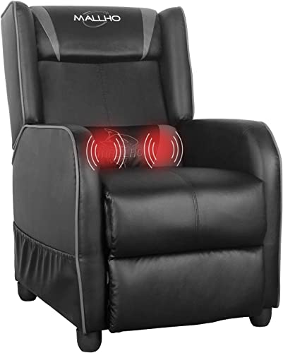 Polar Aurora Gaming Recliner Chair PU Leather Massage Recliner Vibratory Massage Function Ergonomic Lounge