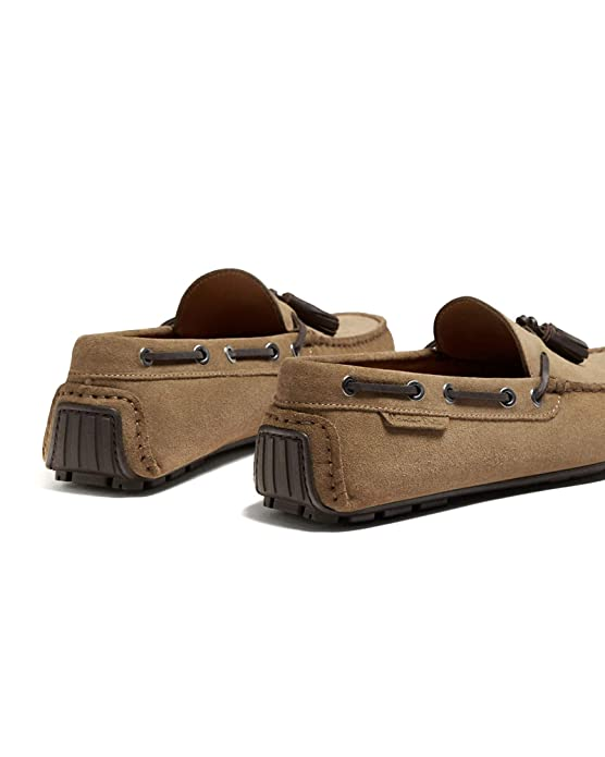 Massimo Dutti - Mocasines para Hombre Marrón marrón, Color Marrón, Talla 40 EU: Amazon.es: Zapatos y complementos