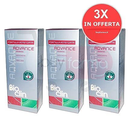Oferta 3 x BIOCLIN Phydrium Advance – Champú anticaída de 200 ml – anticaída