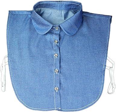 Lunji falso cuello mujer clásico collar camisa Pull ropa accesorio: Amazon.es: Ropa y accesorios
