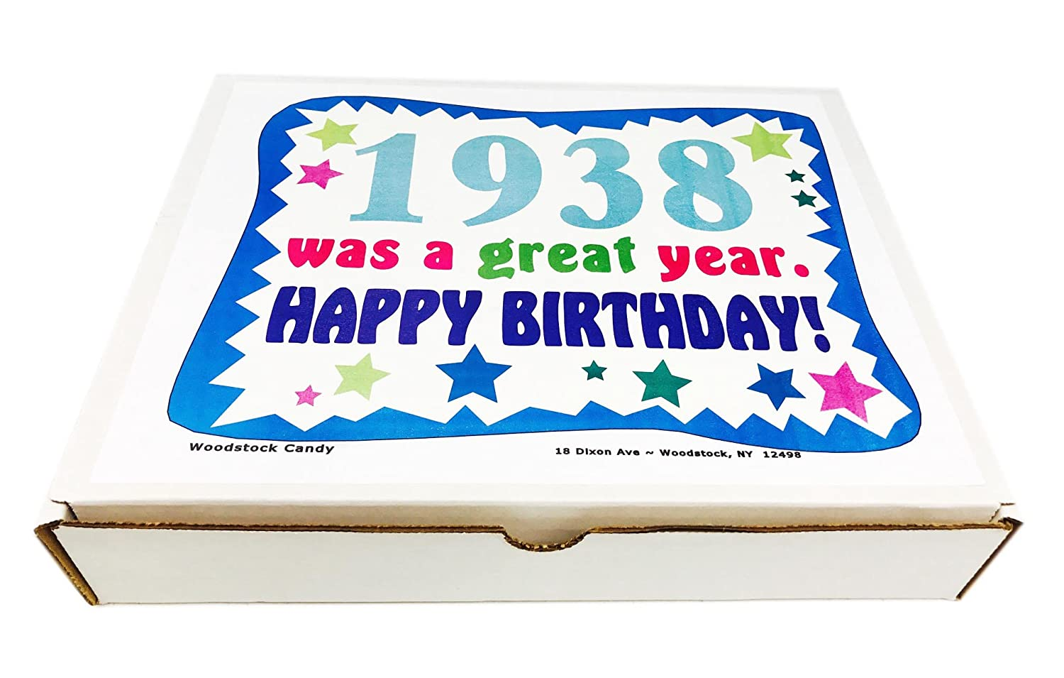 Woodstock Candy ~ 1938 81st Birthday Gift Box Vintage Retro Candy  Assortment from Childhood