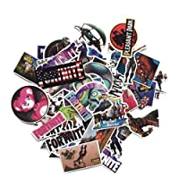 50 Pack Fortnight Stickers - Fortnight Party Supplies Waterproof Gaming Decal Stickers for Laptop Car Skateboard