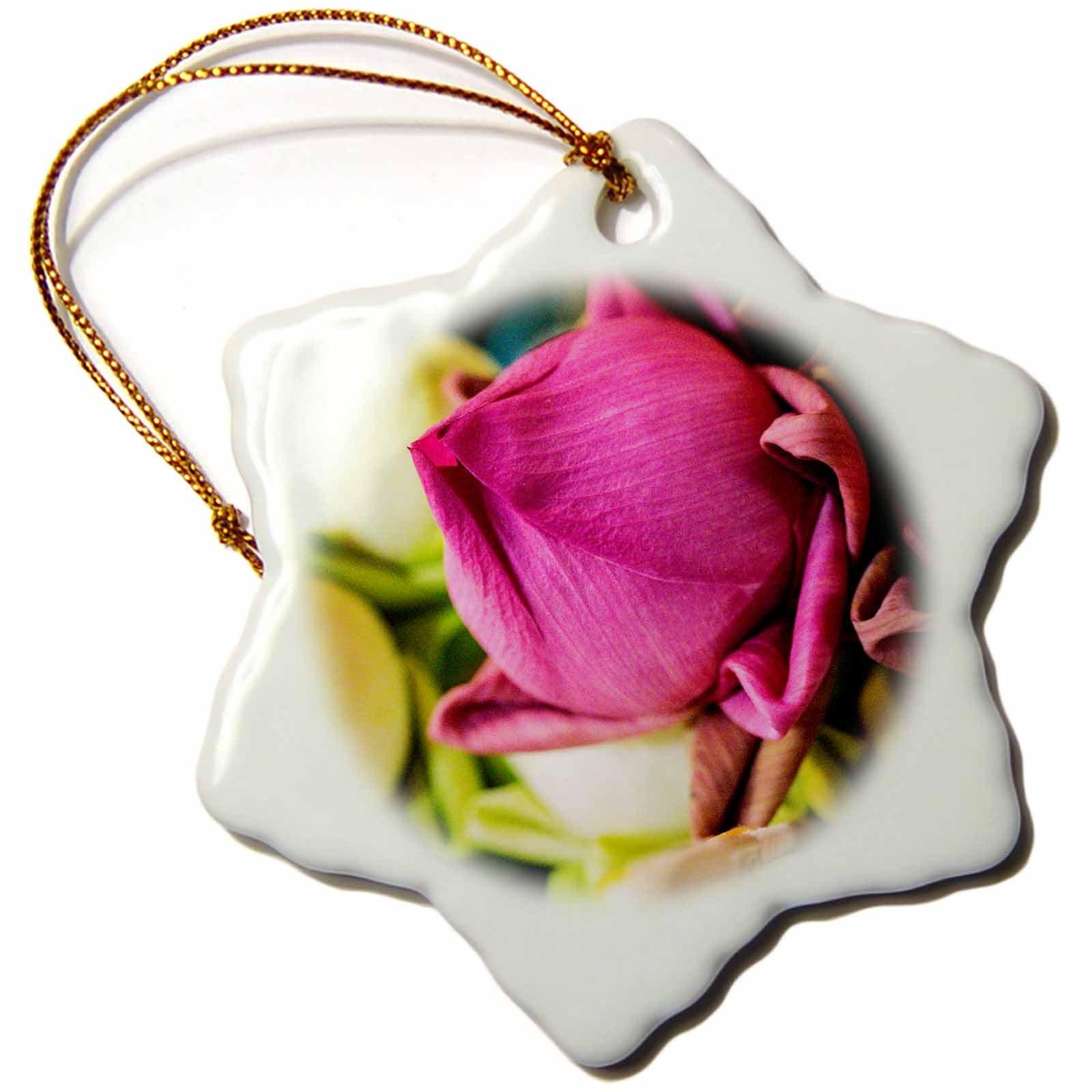 3dRose Danita Delimont - Flowers - Thailand, Chiang Mai, Flowers at the Thai Market Place - 3 inch Snowflake Porcelain Ornament (orn_276974_1)