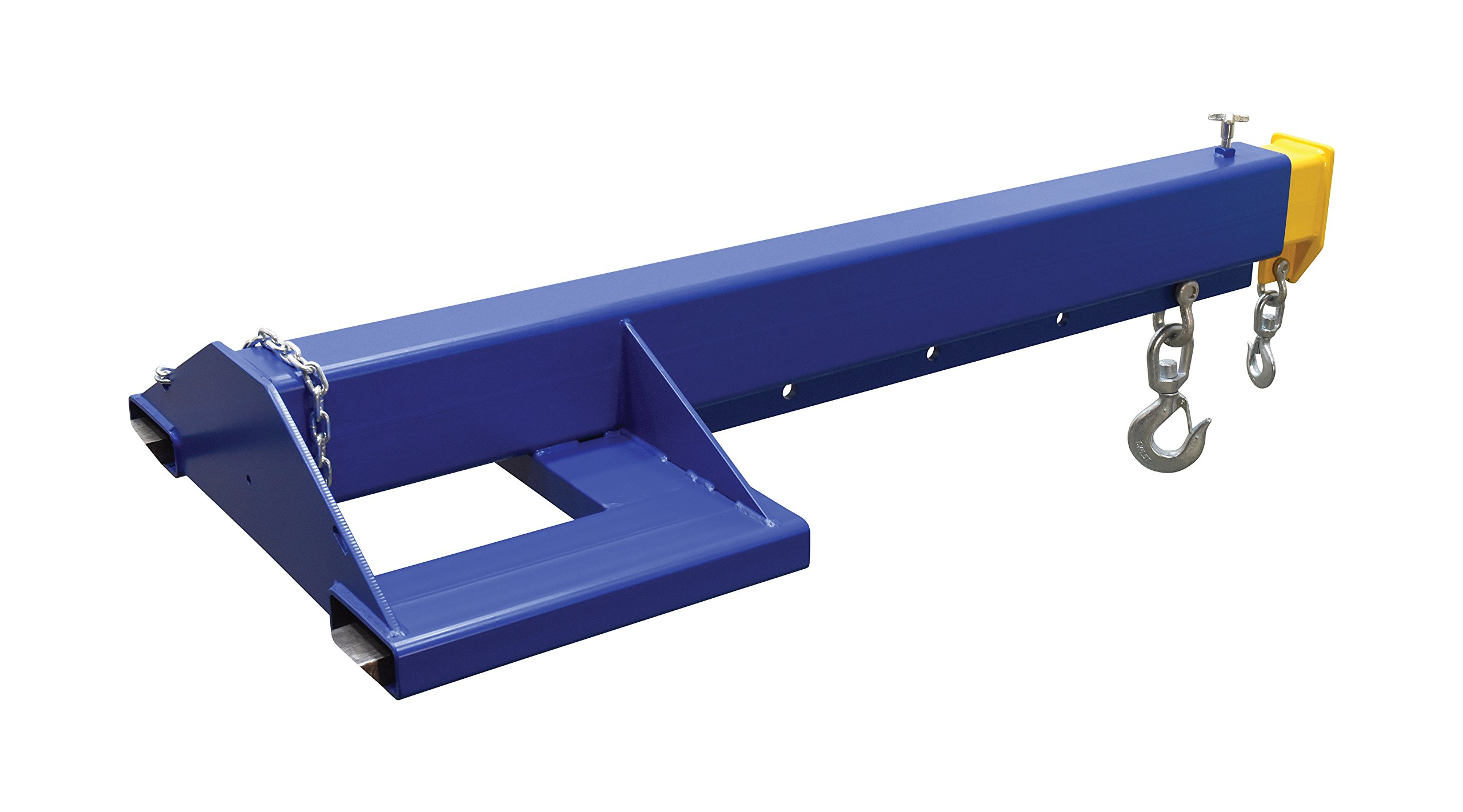 Vestil LM-EBT-8-36 Steel Telescoping Lift Master Fork Truck Boom, 8,000-lb. Capacity, Overall LxWxH (in.) 44 x 84.875 x 15, Overall Extended Length (in.) 149-3/8