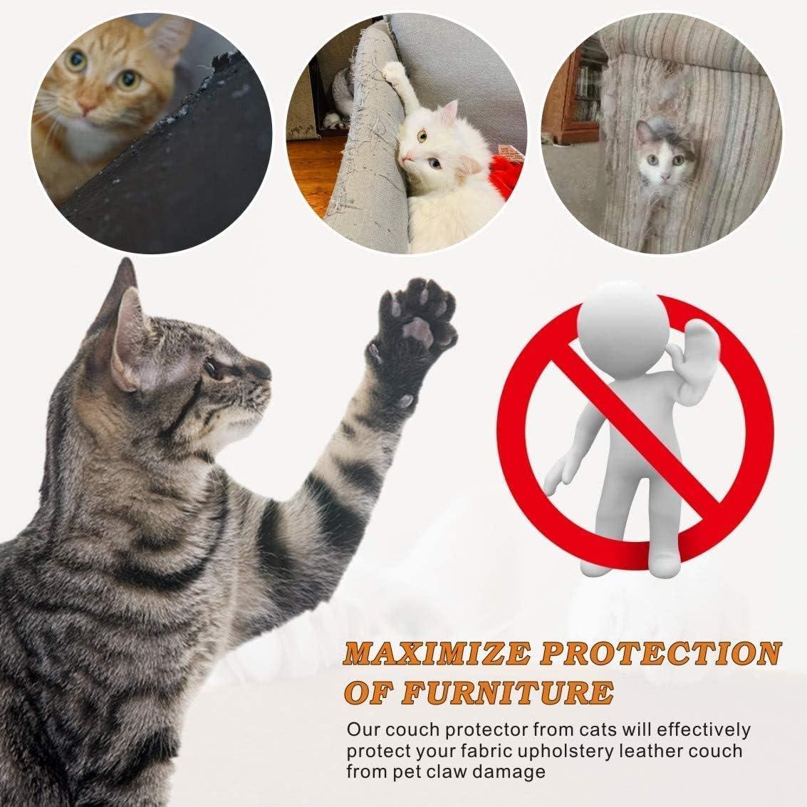 Protector Ara/ñazos Sof/á Puertas WELLXUNK/® Protector de Muebles Gatos Alfombra Transparente Autoadhesivas contra Ara/ñazos Gato Protector Protector de Muebles para Sof/á Muebles Protecci/ón