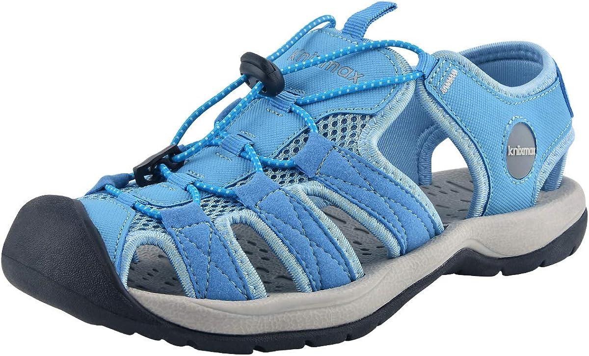 Knixmax-Sandalias de Senderismo Verano para Hombre Mujer Verano Exterior Senderismo Ligeras Antideslizantes Zapatillas Trekking Deportivas Casuales Sandalias de Playa, 38-46EU