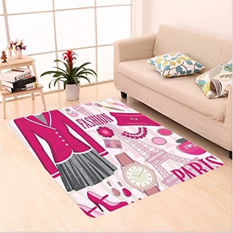 Amazon.com: Nalahome Custom carpet shion Theme in Paris with Outfits ...