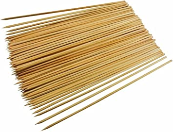 """WOODEN BAMBOO SKEWERS 12"""" STICKS FOR KEBABS BBQ X 300"""