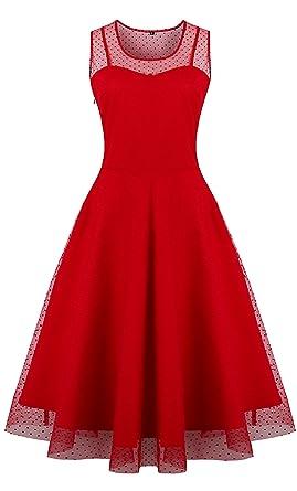 Oriention Women\'s 50s Plus Size Vintage Retro Casual Party ...