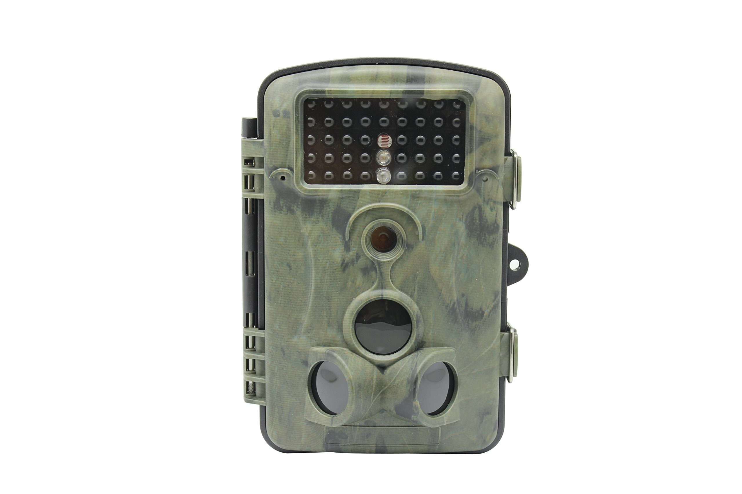 MDTEK 16GB SDHC Card RD1000 Hunting Trail Camera 12MP 1080P 2.4'' LCD Game &Hunting trail Camera with 42pcs LEDs Night Vision up to 20m IP54 Water Protected Design