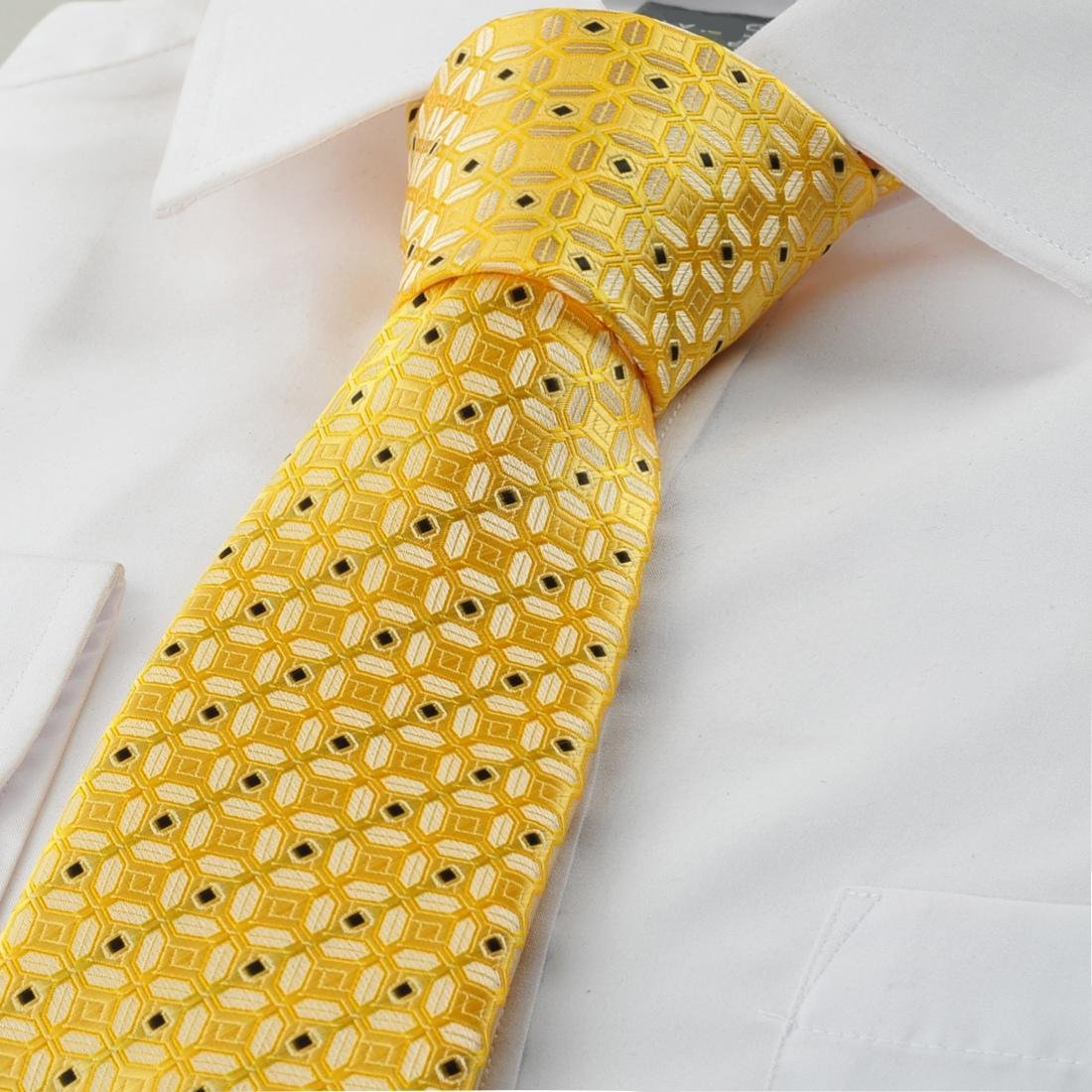 sweettime(tm) Nueva gráfica Golden Amarillo Traje Corbata para ...