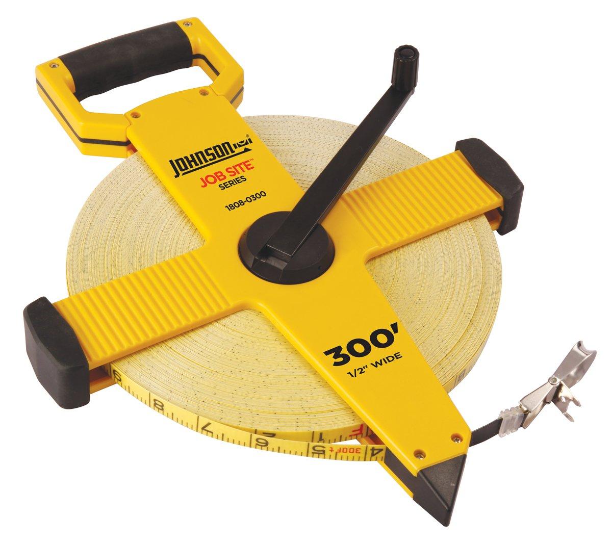 Johnson Level and Tool 1808-0300 300-Foot JobSite Open Reel Fiberglass Tape