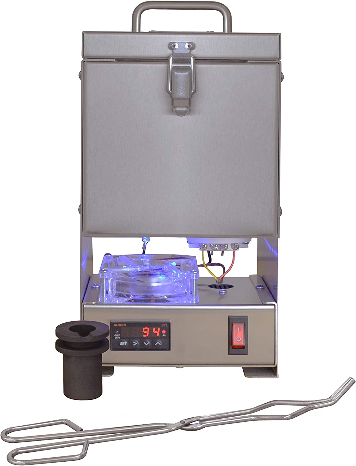 Table Top QuikMelt Pro Metals Melting Furnace / Kiln with 10 ounce Crucible and Tongs